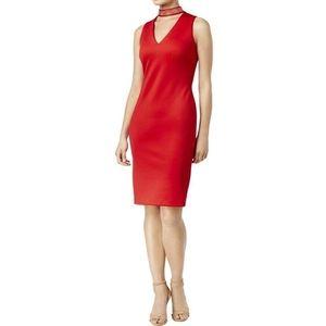 NWOT Calvin Klein Studded Choker Scuba Dress 4